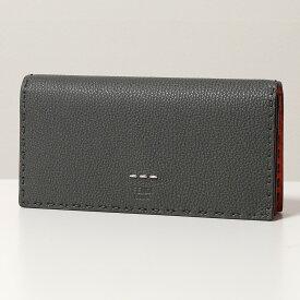 FENDI フェンディ 7M0186 ADYX SELLERIA セレリア レザー 二つ折り長財布 バイカラー F05IC メンズ