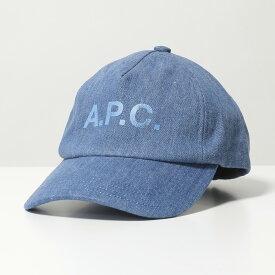 APC A.P.C. アーペーセー COEDZ M24071 casquette eden ロゴ デニム ベースボールキャップ 帽子 IAL/INDIGO-DELAVE レディース