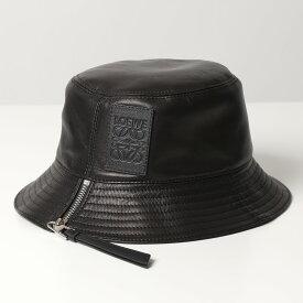 LOEWE ロエベ 112.10.010 FISHEMAN HAT フィッシャーマン ハット バケットハット 帽子 ナパカーフスキン レザー 1100/BLACK レディース