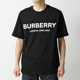 BURBERRY バーバリー 8026016 クルーネック 半袖 Tシャツ カットソー ロゴT プリント BLACK メンズ