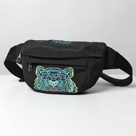KENZO ケンゾー 5SF305 F20 99D タイガー刺繍 ボディバッグ ウエストポーチ ベルトバッグ 鞄 メンズ