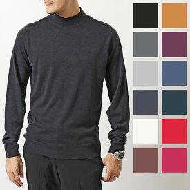 JOHN SMEDLEY ジョンスメドレー HARCOURT ハーコート カラー12色 STANDARD FIT メリノウール モックネック ニット セーター ハイゲージ 無地 メンズ