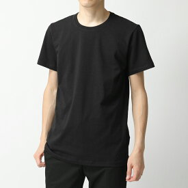 JILSANDER+ ジルサンダー プラス JPUQ706512 MQ257308 001 クルーネック 半袖 Tシャツ ストレッチ カットソー ロゴT 刺繍 ブラック メンズ