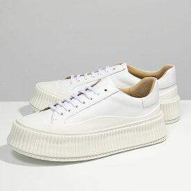 JILSANDER ジルサンダー JS32108A 11104 White Connors Sneakers プラットフォームソール レザースニーカー 靴 101/BIANCO レディース