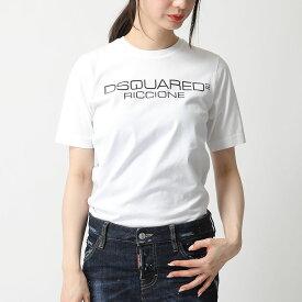 DSQUARED2 ディースクエアード S75GD0081 S22844 100 クルーネック 半袖 Tシャツ カットソー ロゴプリント レディース