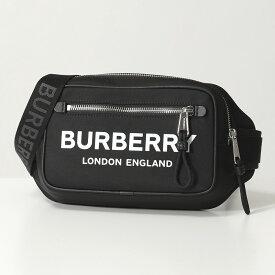 【1,000円OFFクーポン対象!12月1日限定】BURBERRY バーバリー 8021089 WEST PN9 ナイロン ボディバッグ ベルトバッグ ウエストポーチ BLACK 鞄 メンズ