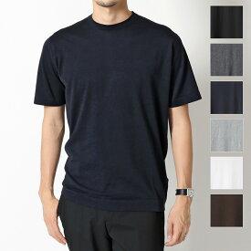 JOHN SMEDLEY ジョンスメドレー LORCA STANDARD FIT カラー6色 クルーネック 半袖 ニット セーター コットンニット メンズ