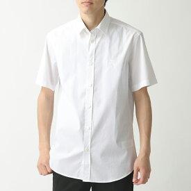 BURBERRY バーバリー 8025614 半袖 カッターシャツ ホース刺繍 WHITE メンズ