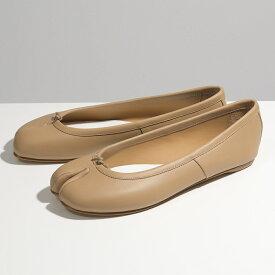 MAISON MARGIELA メゾンマルジェラ S58WZ0042 PR516 レザー 足袋 タビ パンプス フラット バレエシューズ T9004 靴 レディース