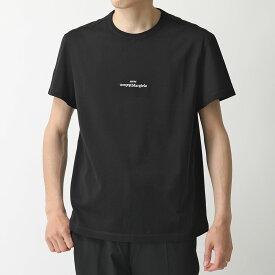 【500円OFFクーポン対象!28日限定】MAISON MARGIELA メゾンマルジェラ 10 S30GC0701 S22816 ディストーテッド ロゴT 刺繍 Tシャツ クルーネック 半袖 カットソー 900 メンズ