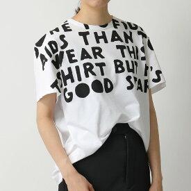 MAISON MARGIELA メゾンマルジェラ S51GC0482 S22816 AIDS エイズT チャリティ クルーネック 半袖 Tシャツ カットソー 100 レディース
