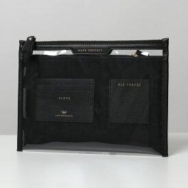 【500円OFFクーポン対象!12月1日限定】ANYA HINDMARCH アニヤハインドマーチ 142175 SAFE DEPOSIT フラットポーチ クラッチバッグ CLEAR/BLACK 鞄 レディース