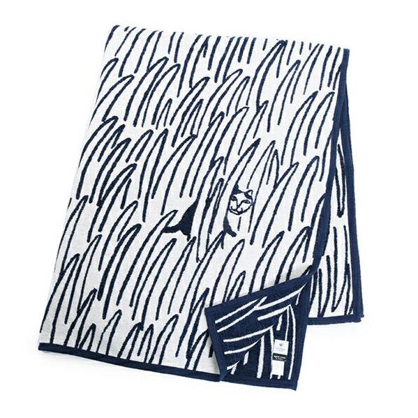 KLIPPAN クリッパン mina perhonen 2547 ミナ ペルホネン 2cats キャット 猫 140×180 オーガニックコットン リバーシブル 大判 シングルブランケット ギフト カラー1色