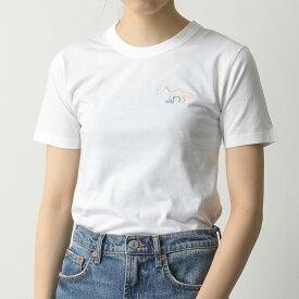 MAISON KITSUNE メゾンキツネ EW00103KJ0037 FITTED TEE-SHIRT クルーネック 半袖 Tシャツ カットソー WHITE レディース
