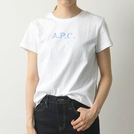 APC A.P.C. アーペーセー COEDA F26866 t-shirt stamp f クルーネック 半袖 Tシャツ カットソー ロゴT AAB/BLANC レディース