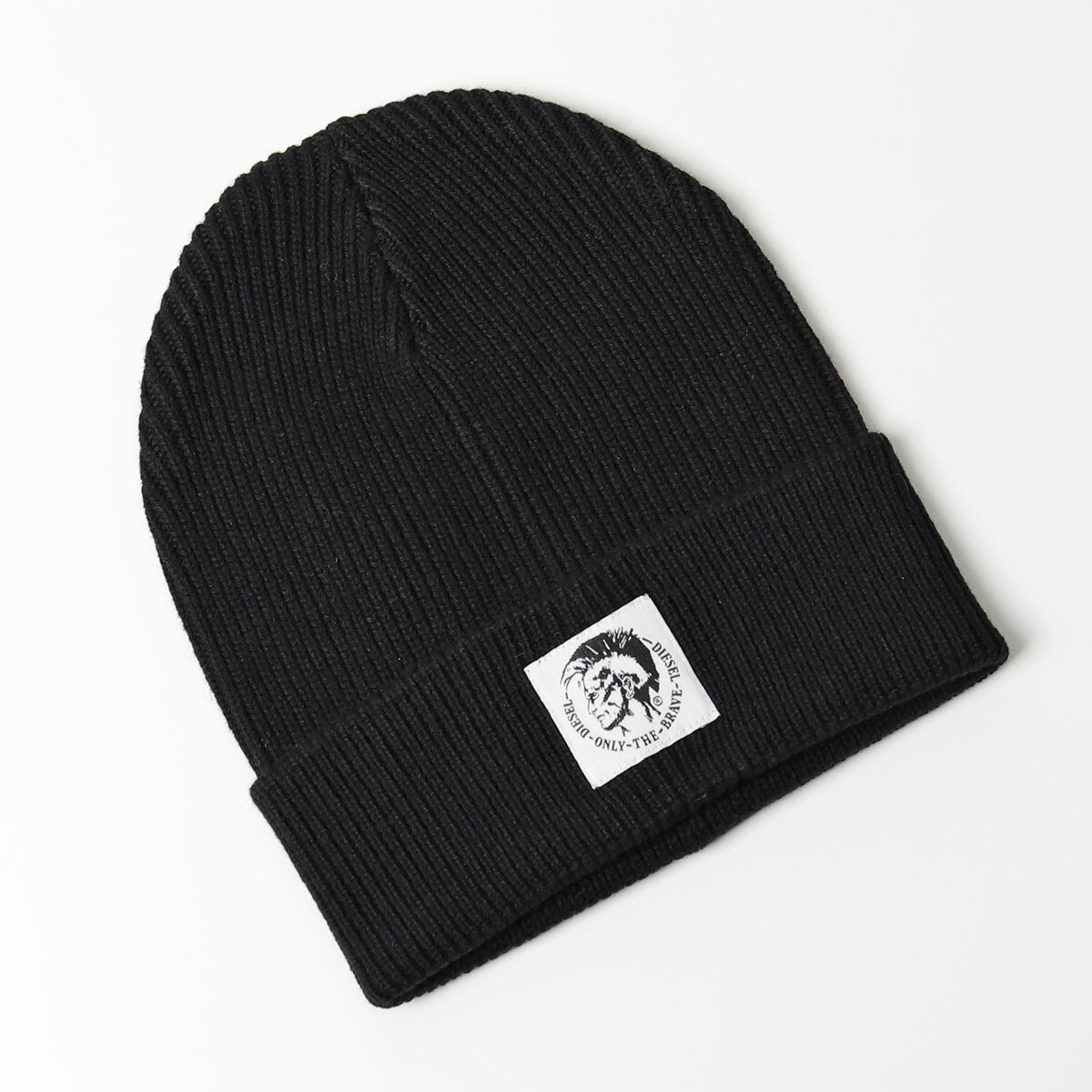 DIESEL ディーゼル 00SVEX 0DAOB K-CODER CAP ウールコットン ニットキャップ ニット帽 リブ 帽子 ブレイブマン パッチ カラー900/ブラック 9504メンズ