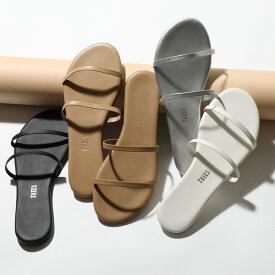 TKEES ティキーズ GEMMA レザー フラットサンダル リゾート ダブルストラップ スムース カラー5色 靴 レディース【CP_20】