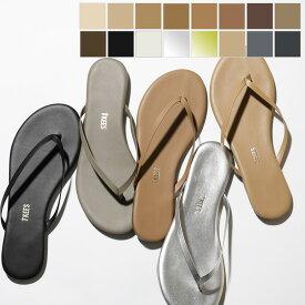 TKEES ティキーズ Tongs カラー13色 レザー トングサンダル フラットサンダル リゾート スムース+メタリック 靴 レディース