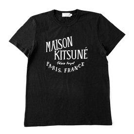 MAISON KITSUNE メゾンキツネ AM00100 PALAIS ROYAL クルーネック 半袖 Tシャツ カットソー 丸首 カラーBLACK メンズ