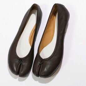 MAISON MARGIELA メゾンマルジェラ S58WZ0042 P3753 ヴィンテージレザー 足袋 タビ パンプス フラット バレエシューズ 靴 T2348 レディース