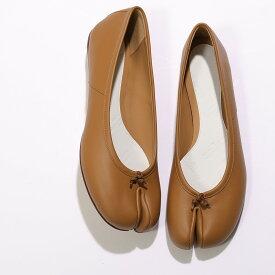 MAISON MARGIELA メゾンマルジェラ S58WZ0042 PR516 レザー 足袋 タビ パンプス フラット バレエシューズ 靴 T2287 レディース