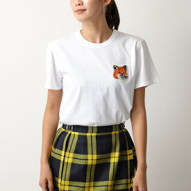 MAISON KITSUNE メゾンキツネ FU00170KJ0008 クルーネック 半袖 Tシャツ カットソー WHITE レディース