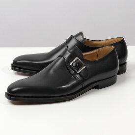 【2,000円OFFクーポン対象!24日〜25日限定】CROCKETT&JONES クロケットアンドジョーンズ 25118A C01L1 Monkton レザー シングルモンク シューズ キャップトゥ 革靴 BLACK 靴 メンズ