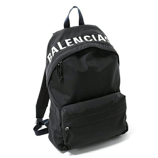BALENCIAGA バレンシアガ 525162 9F91X ウィール ナイロン バッグ リュック バックパック デイパック ロゴ刺繍 1090/ブラック ユニセックス メンズ