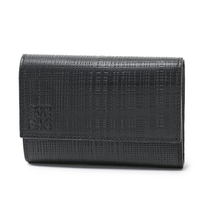 LOEWE ロエベ 101.88.S97 SMALL VERTICAL レザー 三つ折り財布 カラー1100/NEGRO-BLACK ユニセックス