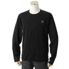 lucien pellat-finet ルシアンペラフィネ EVU 2051 長袖Tシャツ ロンT ロング ストレッチ BLACK
