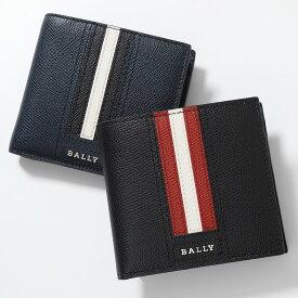 BALLY バリーTEISEL LT ボヴィンレザー コインウォレット 小銭入れ付き 二つ折財布 10/ブラック メンズ