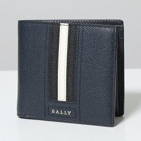 BALLY バリーTEISEL LT ボヴィンレザー コインウォレット 小銭入れ付き 二つ折財布 17/ネイビー メンズ