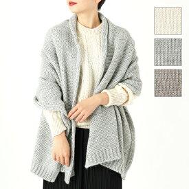 TWEED MILL ツイードミル Chunky Knit Scarf ウール混 リブ マフラー ストール 無地 カラー3色 レディース