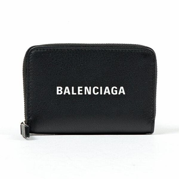 BALENCIAGA バレンシアガ 505049 DLQHN 1060 レザー コイン&カードケース ミニ財布 豆財布 NERO ユニセックス メンズ