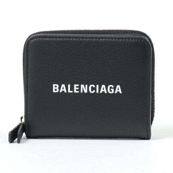 BALENCIAGA バレンシアガ 551933 DLQ4N レザー 二つ折り財布 ミディアム財布 スモール 1000/NOIR-BLANC レディース