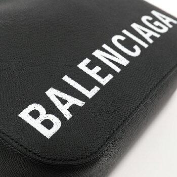 【エントリーでポイント最大16倍!25日限定】BALENCIAGAバレンシアガ5581720OTDM1000ヴィルVILLECAMERABAGSAJレザーショルダーバッグポシェットBLACK/LWHITEレディース