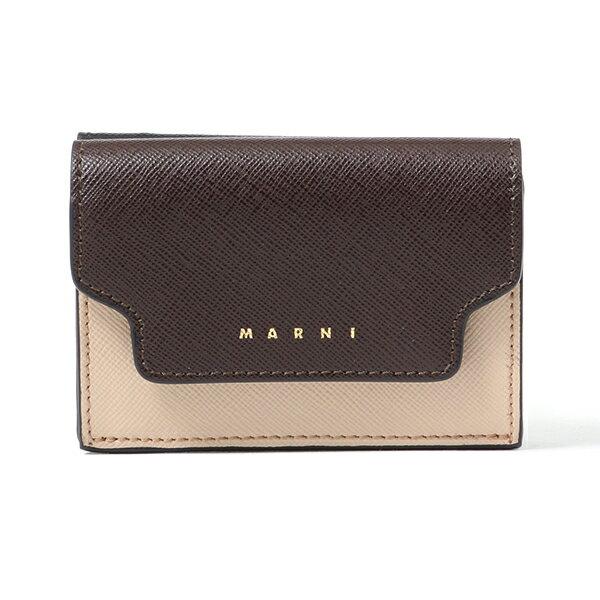 MARNI マルニ PFMOW02U09 LV520 レザー 三つ折り財布 ミニ財布 スモール 豆財布 Z174N レディース