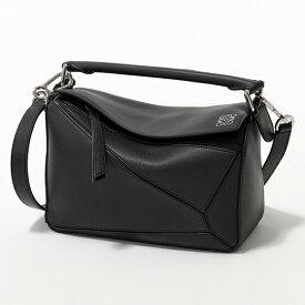 LOEWE ロエベ 322.30.S21 PUZZLE SMALL BAG パズル スモール バッグ レザー ハンドバッグ ショルダーバッグ 1100/BLACK 鞄 レディース