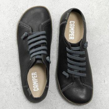 【エントリーでポイント最大25倍!15日20時〜23時59まで】CAMPERカンペール20848PeuCamiPattyレザーフラットシューズローカットスニーカーEVAインソールカラー2色靴レディース
