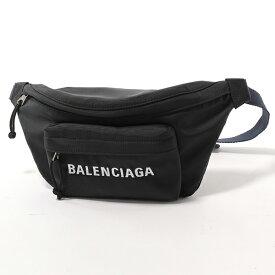 BALENCIAGA バレンシアガ 552770 9F91X 1090 ウィール ベルトバッグ ナイロン ボディバッグ NOIR-BLEUNAVY ユニセックス メンズ