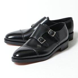JOHN LOBB ジョンロブ WILLIAM 2 CALF LAST 9795 E ウィリアム2 ダブルモンク レザーシューズ ドレスシューズ 革靴 ビジネス BLACK メンズ
