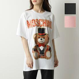 MOSCHINO COUTURE! モスキーノ クチュール V0702 0540 カラー3色 テディベア クルーネック 半袖 Tシャツ オーバーサイズ カットソー レディース