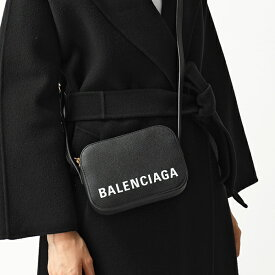 BALENCIAGA バレンシアガ 558171 0OTDM VILLE CAMERA BAG XS AJ ヴィル カメラバッグ レザー ショルダーバッグ ポシェット 1000/BLACK レディース