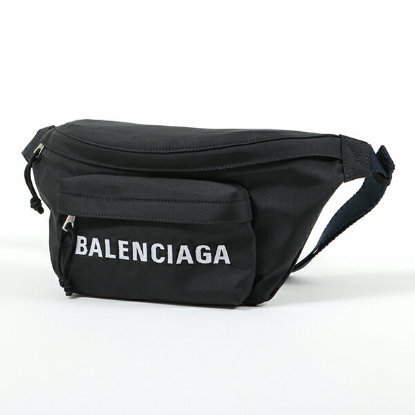BALENCIAGA バレンシアガ 533009 9F91X 1090 ウィール ベルトバッグ ボディバッグ ナイロン BLACK-NAVYBLUE ユニセックス メンズ