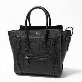 CELINE セリーヌ 189793DRU.38NO Micro マイクロ LUGGAGE ラゲージ レザー トートバック BLACK 鞄 レディース