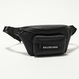 BALENCIAGA バレンシアガ 552375 DLQQN 1000 エブリデイ ロゴ ベルトバッグ レザー ボディバッグ BLACK ユニセックス メンズ