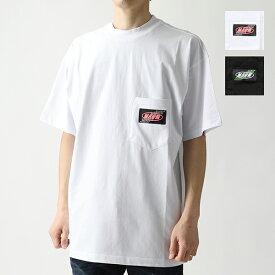 MSGM エムエスジーエム 2640 MM75 カラー2色 半袖 Tシャツ カットソー クルーネック ポケT ロゴタグ オーバーサイズ メンズ