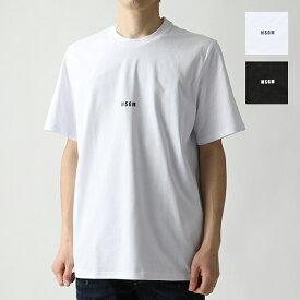 MSGM エムエスジーエム 2640 2740 MM162 半袖 Tシャツ カットソー クルーネック ちびロゴ オーバーサイズ カラー2色 メンズ
