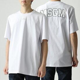 MSGM エムエスジーエム 2641 MDM179 オーバーサイズ 半袖 Tシャツ クルーネック ビッグシルエット カットソー ちびロゴ 01
