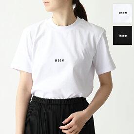 MSGM エムエスジーエム MDM100 半袖 Tシャツ カットソー クルーネック 丸首 ちびロゴ カラー2色 レディース